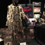 Michael Jackson Thriller Zombie statue at monsterpalooza trade show