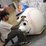 sports props giant foam baseball Mr Met