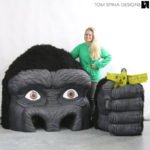 movie themed event props King Kong statue