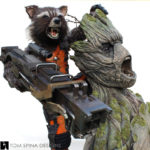 life sized Rocket and Groot Statue
