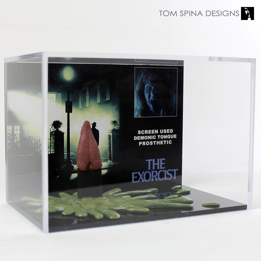 the exorcist movie prop acrylic display case tom spina designs