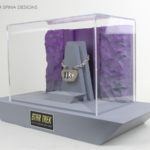 Star Trek television prop display acrylic case