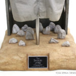 carved foam faux stone display