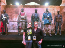 San Diego Comic Con Star Wars Rogue One movie costumes on custom mannequins