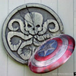 HYDRA plaque with captain america shield