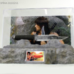 Rambo Knife Movie Prop Display