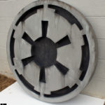Star wars wall art imperial logo