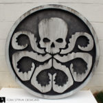 stone wall art, HYDRA wall plaque