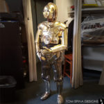 star wars replica costume of C-3PO droid