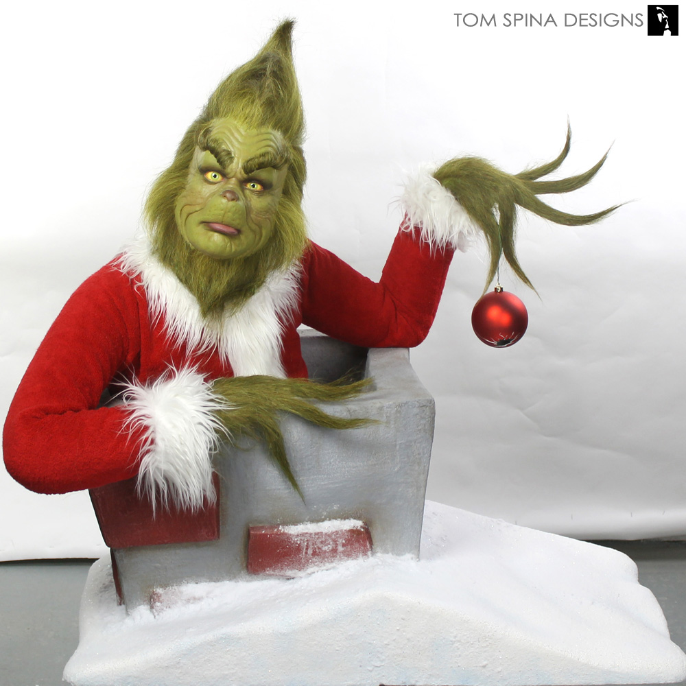 Grinch Makeup Appliance Display Bust