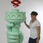 Statue of Liberty Torch trade Show Prop