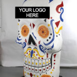 branded foam prop of a sugar skull