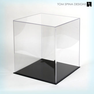 medium acrylic display case cube
