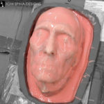 Silicone molding a lifemask