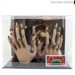 Ninja turtles prop display case metal plaque