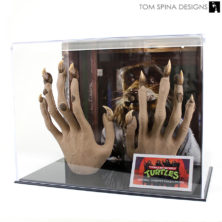 custom acrylic display case for Master Splinter TMNT prop
