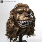 hand painted lion mask prop
