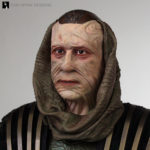 Resin head sculpture of Ru'afo from Star Trek