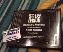 tom spina inducted to 501st as honorary member