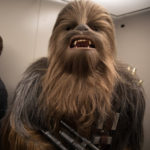 Adam Savage incognito as Chewbacca the Wookiee