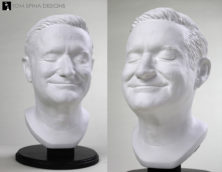 classical Robin Williams lifesized plaster style bust.