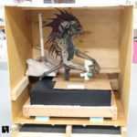 crating freighting movie prop sculptures