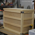 hand crafted wooden crate