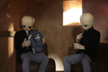 Bith alien masks and hands