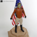 Rocketeer Maquette Statue Display