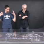 Han Carbonite Desk prop with Adam Savage
