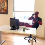 Deadpool costume mannequin
