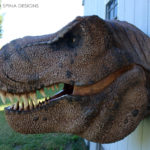 Scaled T-Rex Head Prop Bust wall mount