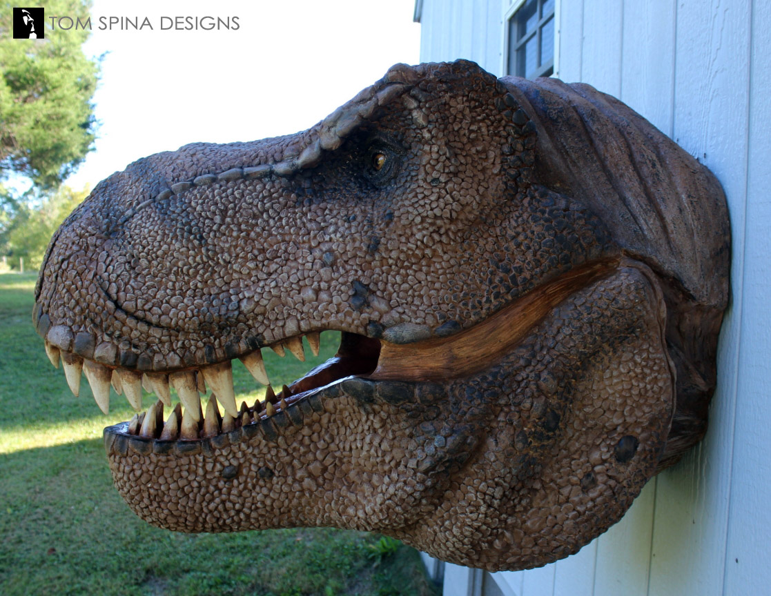 Scaled T Rex Head Prop Bust Tom Spina Designs 187 Tom