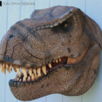 Scaled T-Rex Head Prop Bust
