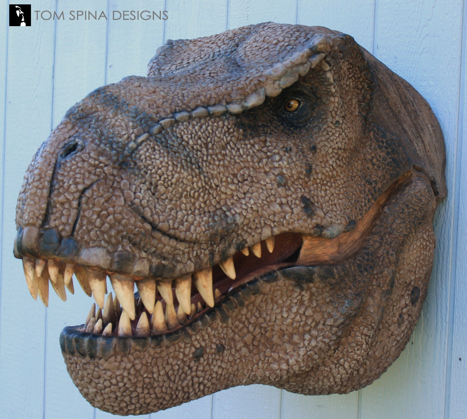 Scaled T Rex Head Prop Bust Tom Spina Designs Tom Spina Designs