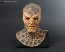 custom display of movie costume mask