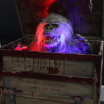 Creepshow movie prop Fluffy Savini puppet display