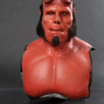 hellboy silicon bust wax figure