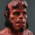 Ron Perlman Hellboy Prosthetics Display