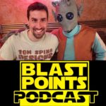 Tom Spina with Greedo costume on Blast Points Podcast