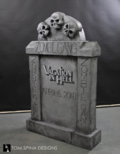 hand carved foam tombstone prop