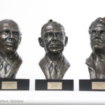 Bronze Bust Sculptures Tribute to Medical Physicists