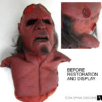 foam latex Hellboy movie mask