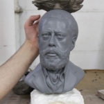 clay sculpture 3d printed head statue