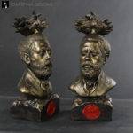 hand sculpted memorial bust