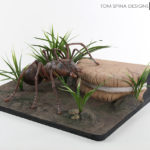 scaled diorama landscape model