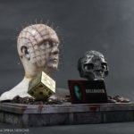 Hellraiser movie props and Doug Bradley Pinhead bust