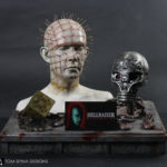 Hellraiser movie props and pinhead bust