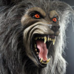 haunted house Life size wolf statue