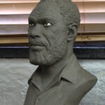 Clay sculpture for bronze Custom Tribute Bust
